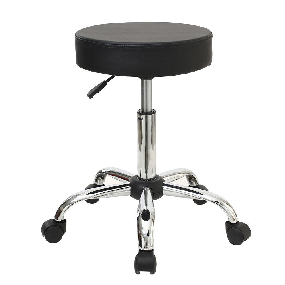 Pneumatic Rolling Adjustable Swivel Bar Stool Drafting Chair With Casters Whe