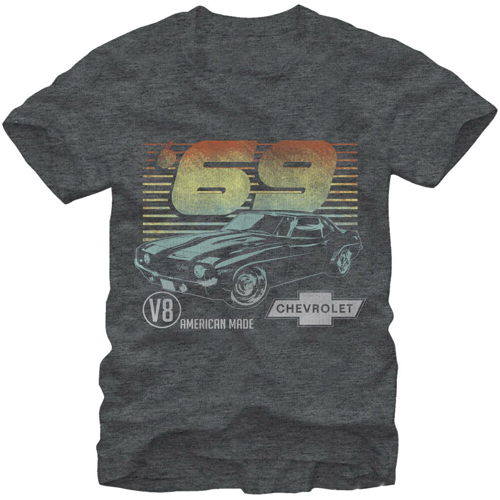 General motors 69 camero adult t shirt official licensed for Warson motors t shirt