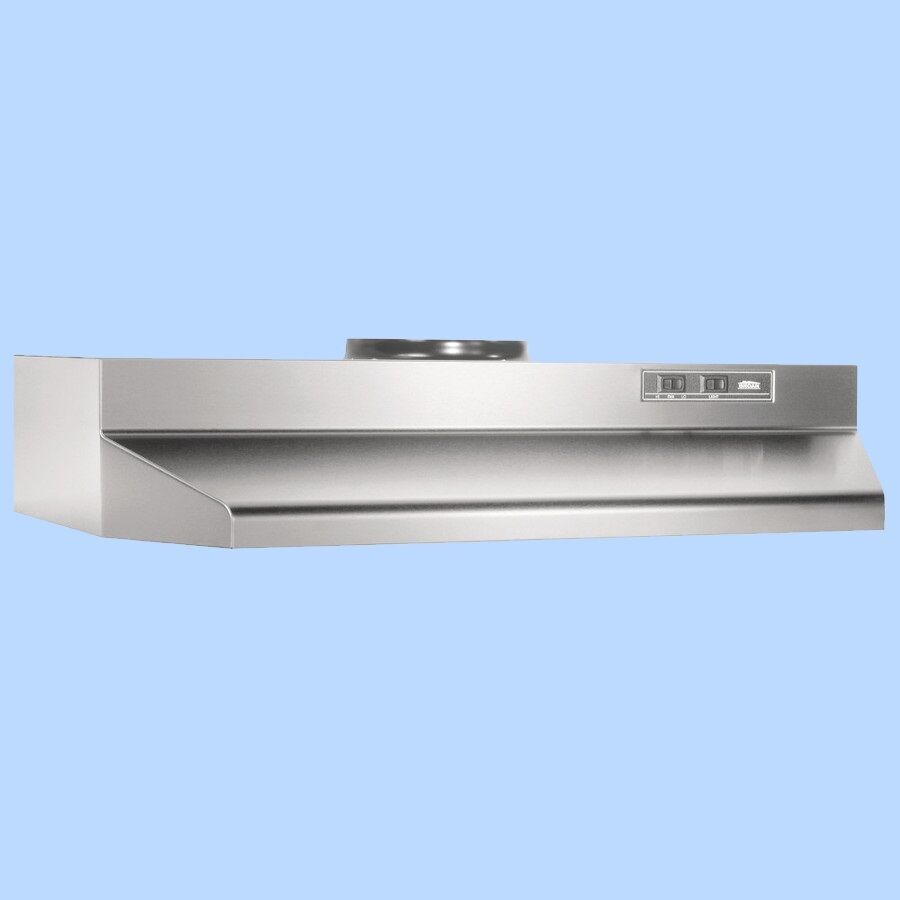 Stove Exhaust Fans : Stainless over the stove range hood ducted quot exhaust fan