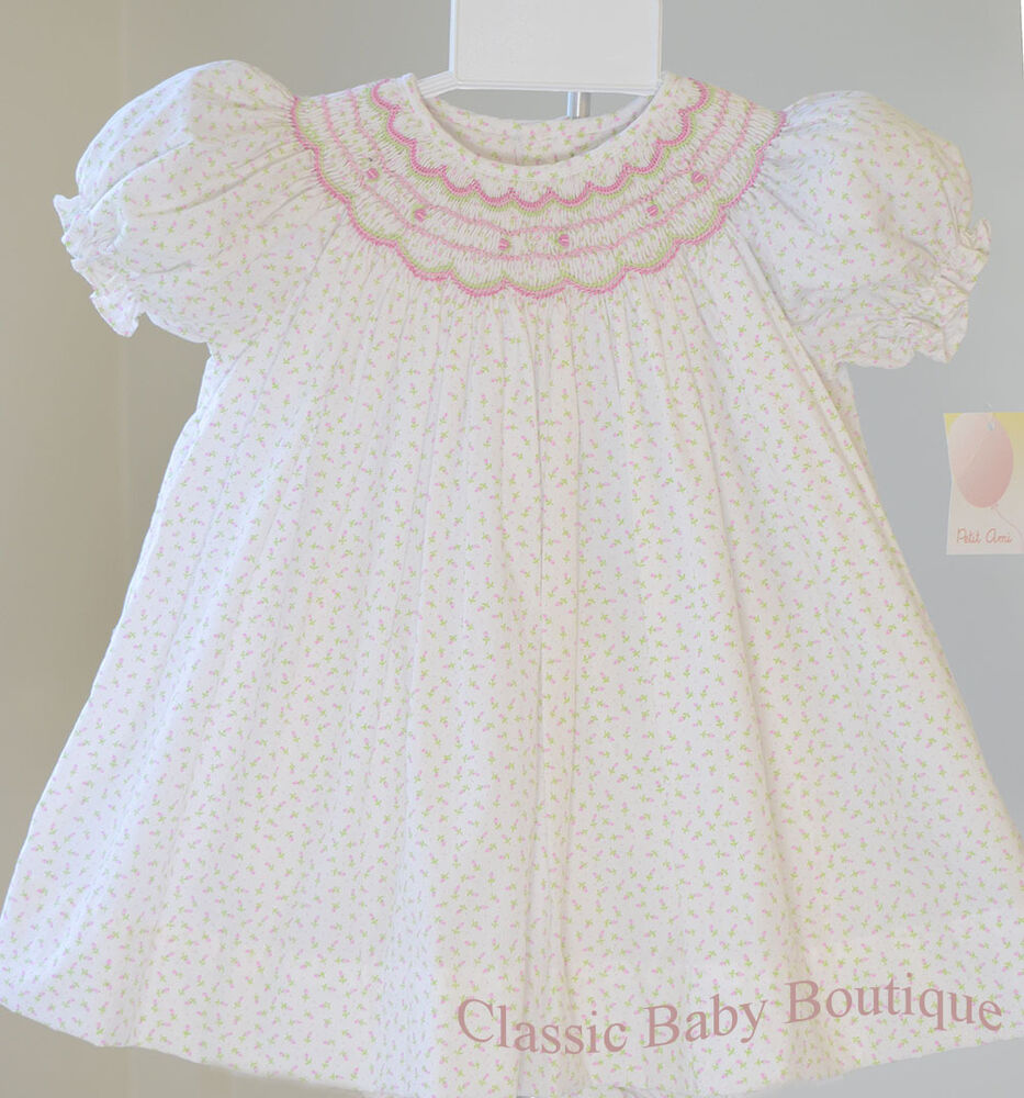 NWT Petit Ami Floral Smocked Bishop Daygown Dress Newborn ...