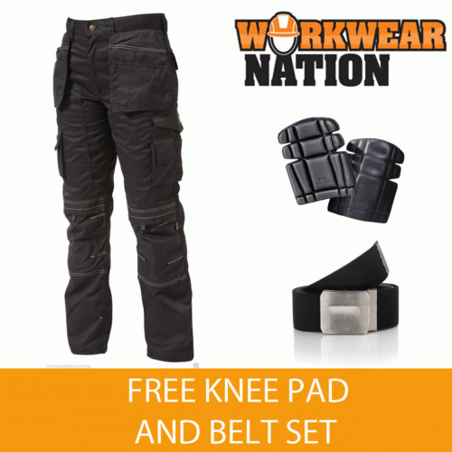 Apache Holster Knee PAD Trouser Work Cordura APKHT- BLACK - FREE Knee PAD & BELT