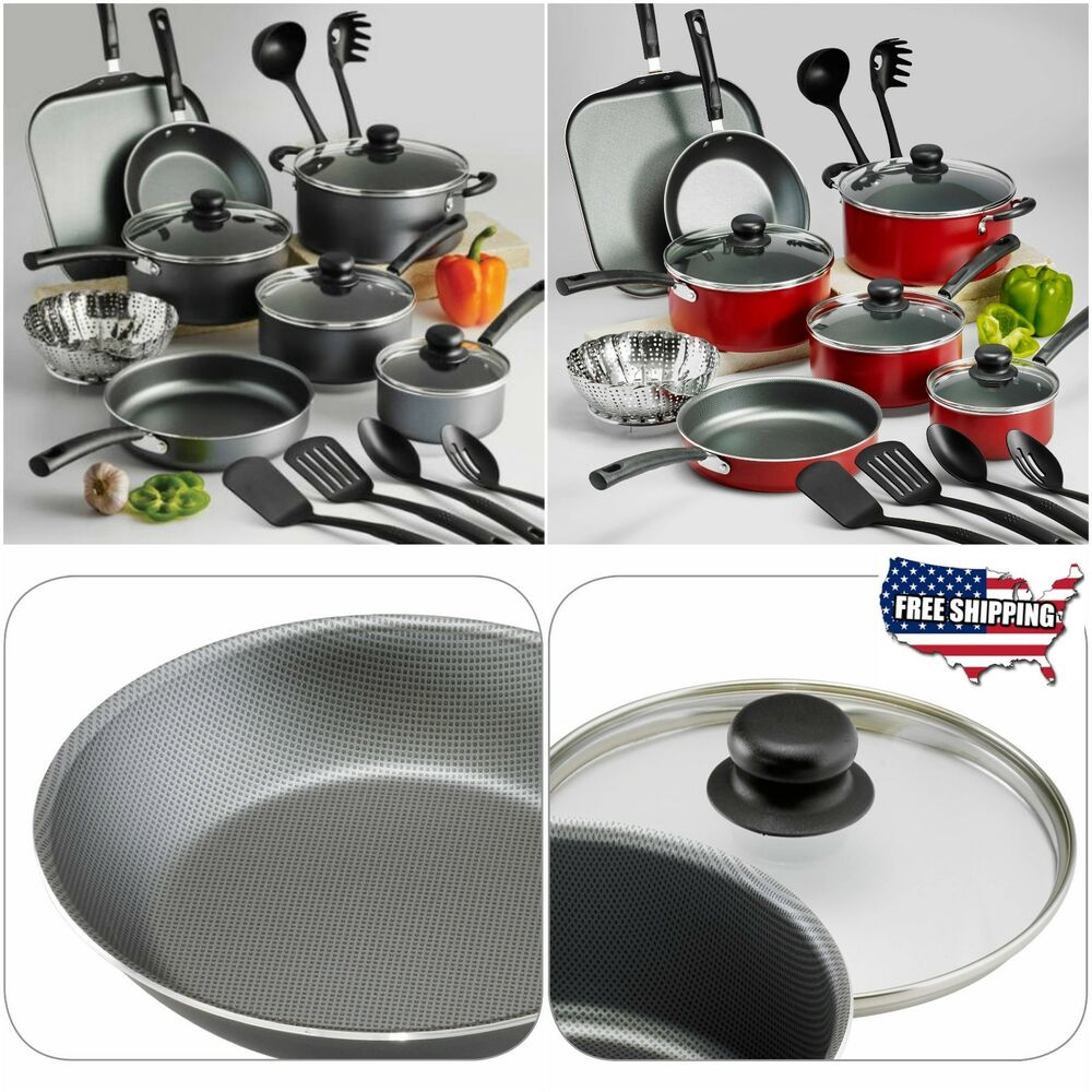 Nonstick Cookware Set Teflon 18 Piece Pots Pans Kitchen Cooking Kitchenware Lids Ebay