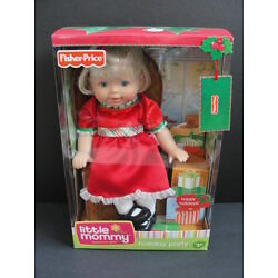 NEW Little MOMMY Holiday Party Christmas Doll Fisher Price Red Dress Blonde NIB