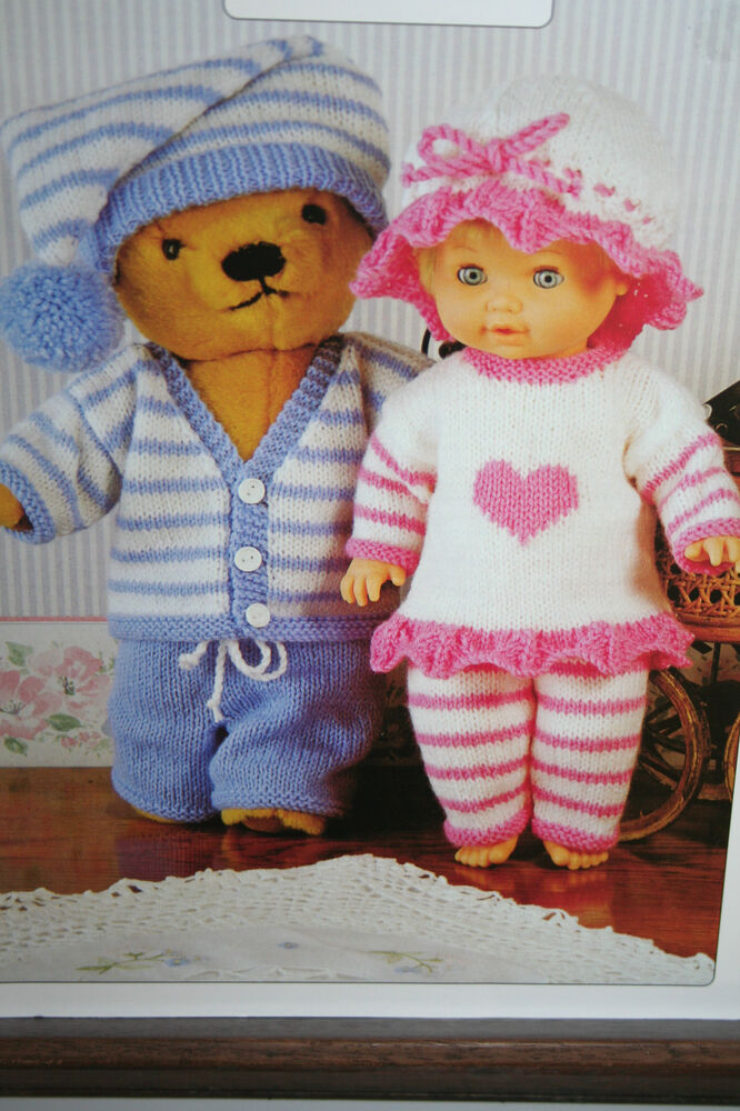 Knitting Pattern For Teddy Bear Clothes : Doll and Teddy Bear Clothes Knitting Pattern eBay