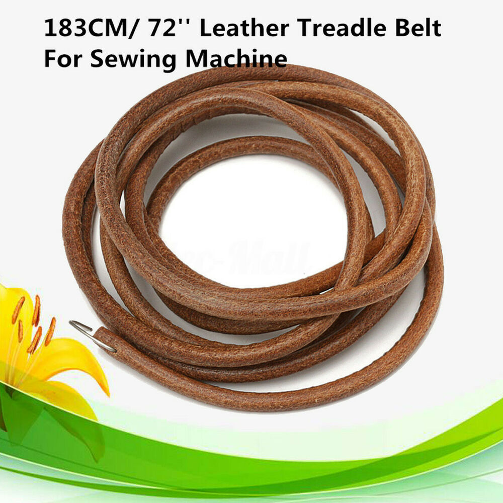 72'' Leather Belt Treadle Parts With Hook For Singer ...