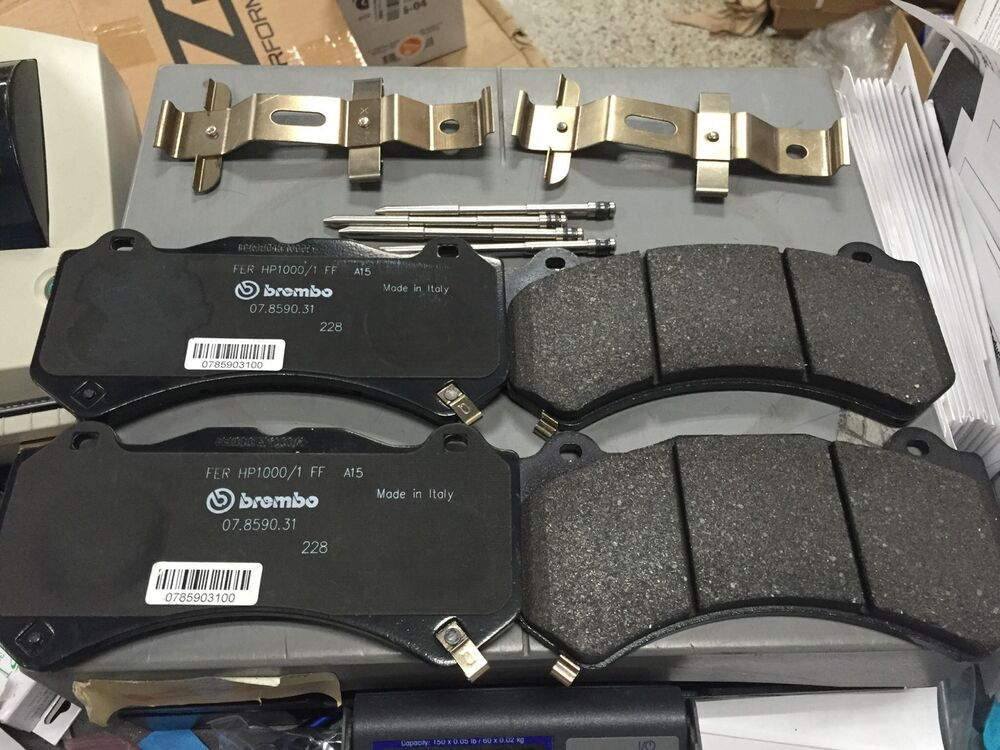 Brembo Brake Pads >> OEM GM Brembo 6 Piston CTS-V Front Brake Pads w/ Pin Kit ZL1 ATS-V | eBay