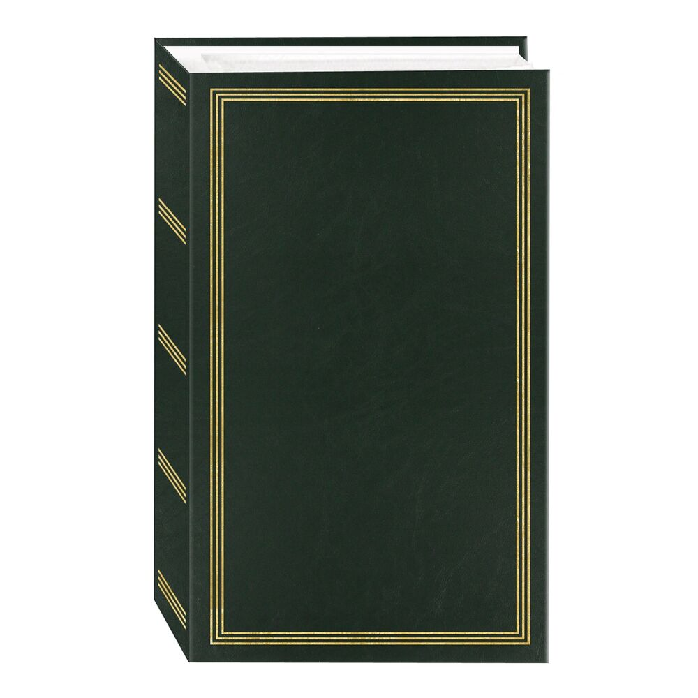 new photo album 4x6 slip in 500 photos green memory family wedding baby vintage ebay. Black Bedroom Furniture Sets. Home Design Ideas