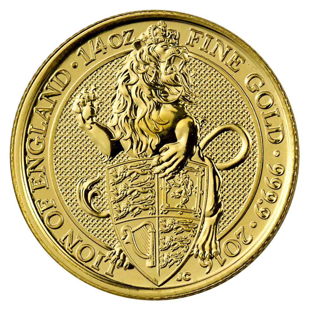2016 Great Britain 25 Pounds 1 4 Oz Gold Queen S Beast