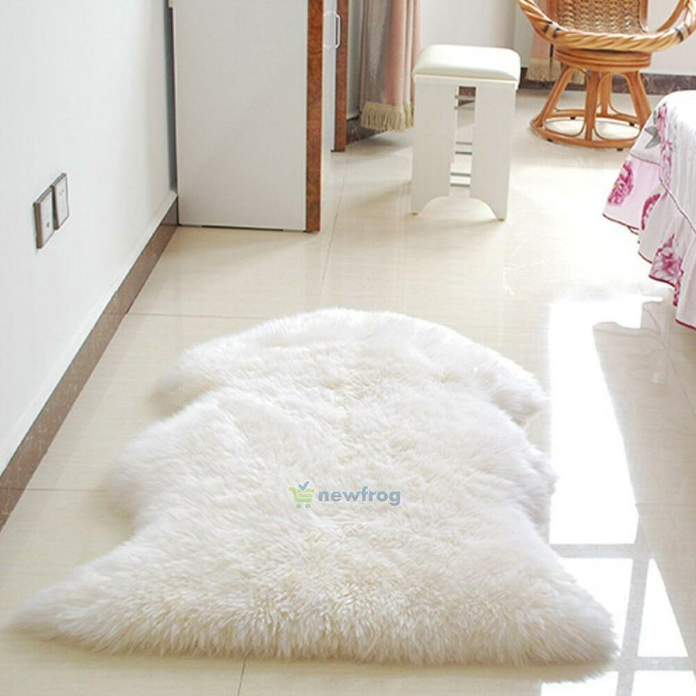 60*90cm Luxury Sheepskin Chair Cover Rug Single Pelt Fur