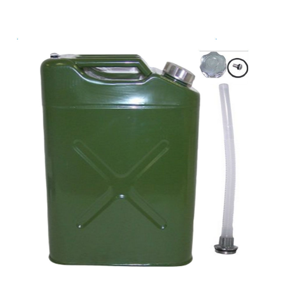 5 gal 20l jerry can gasoline fuel can portable metal gas. Black Bedroom Furniture Sets. Home Design Ideas