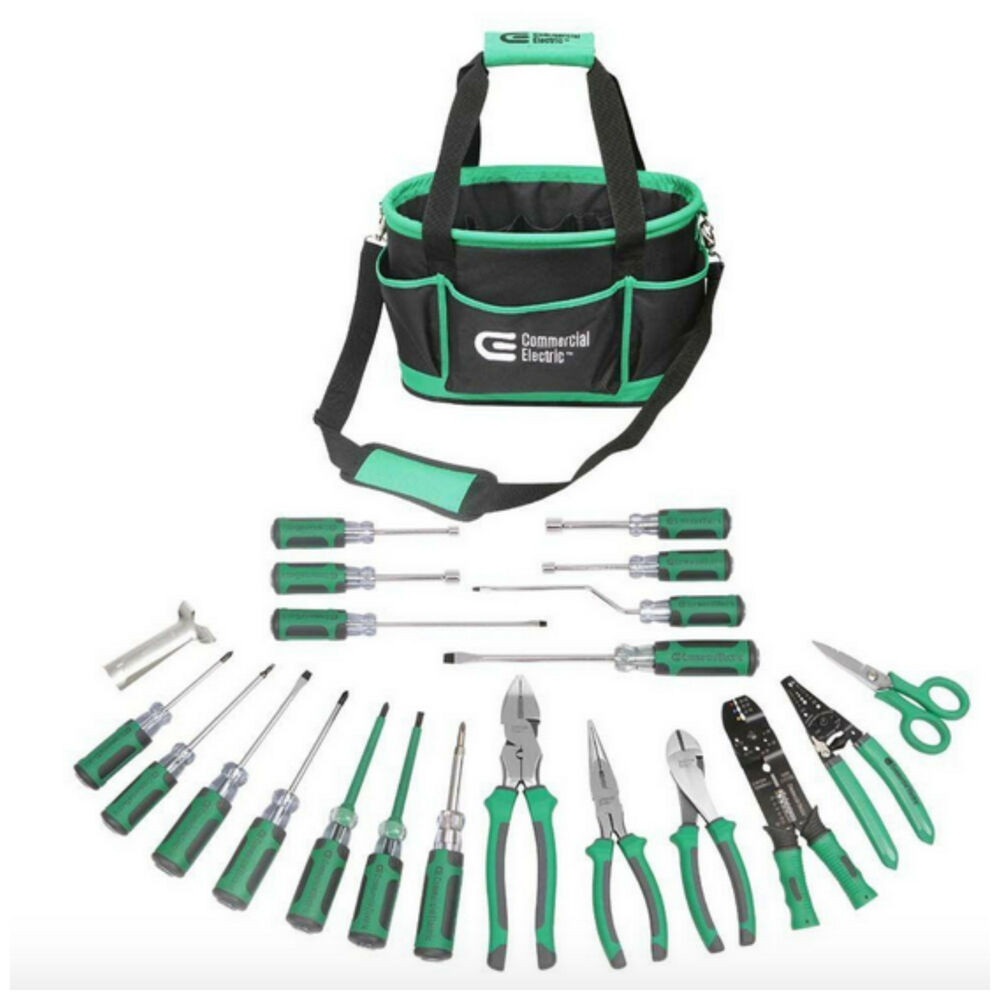 Electrical Electrician 22 Piece Tools Hand Tool Set Kit ...