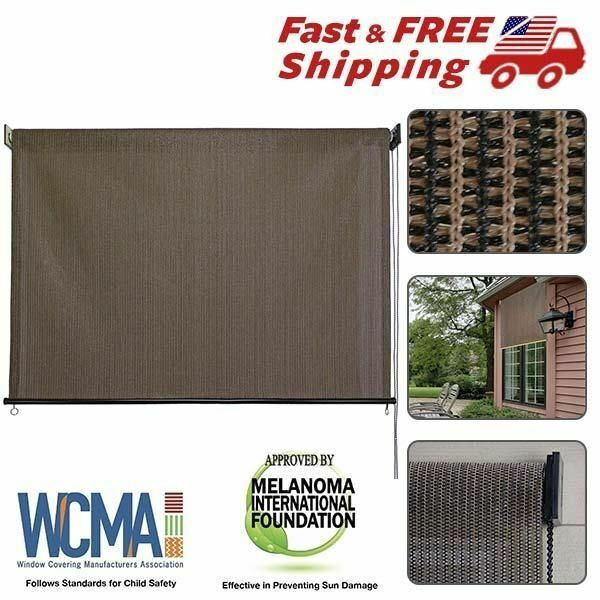 Exterior shade roller outdoor cordless window roll blind up 6ft x 6ft patio sun ebay Cordless exterior sun shades