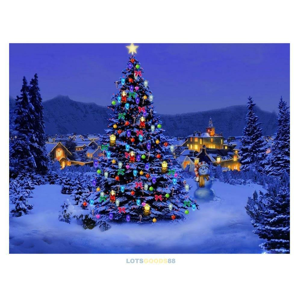 Colorful Christmas Tree 5d Diamond Diy Embroidery Painting Home Decor Craft Kit Ebay