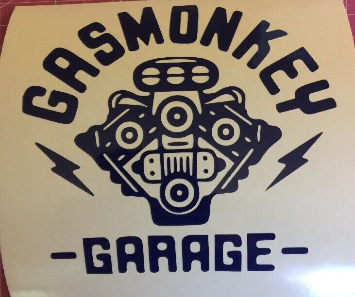 Gas Monkey Garage Car Decal: Gas Monkey Garage V8 Logo Vinyl Window Decal Sticker 4 3/4