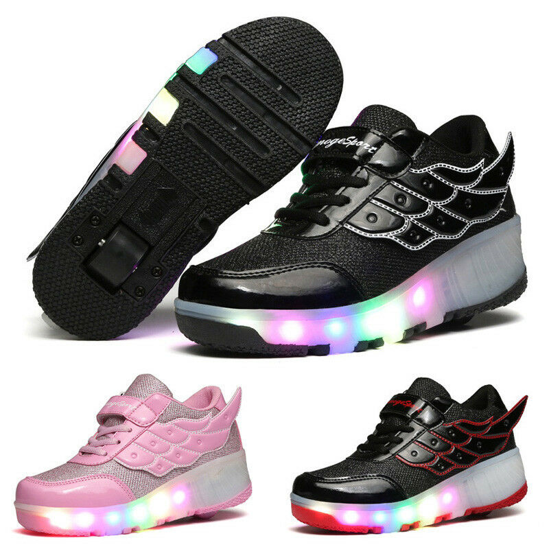 student led rgb lace up luminous boys light wings