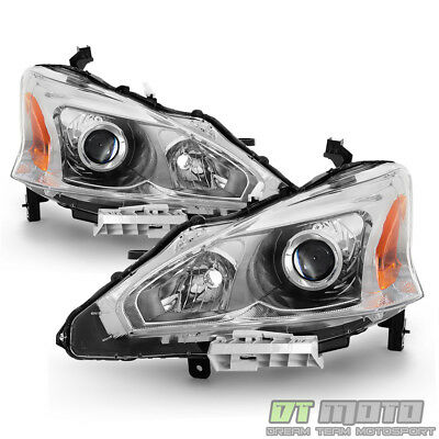 For 2013 2014 2015 Altima Sedan Projector Headlights Headlamps 13-15 Left+Right