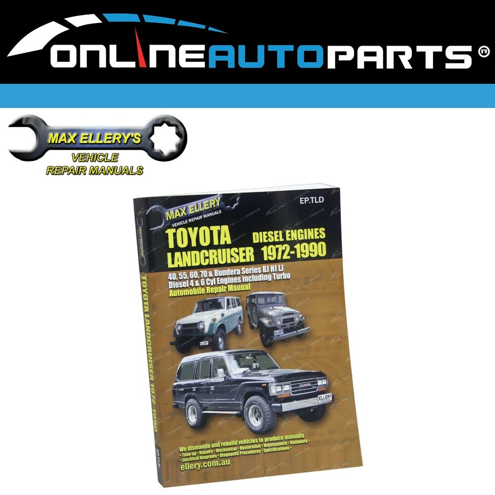 Workshop Repair Manual Book suits Toyota Diesel 72~90 40 60 70 Series  Bundera | eBay