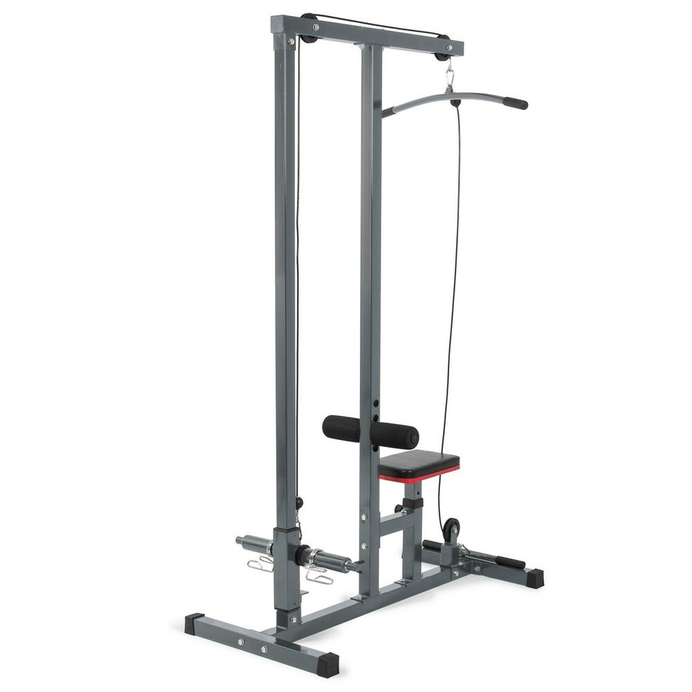 Low Cable Pull : Multi function pro lat pulldown machine w low row bar