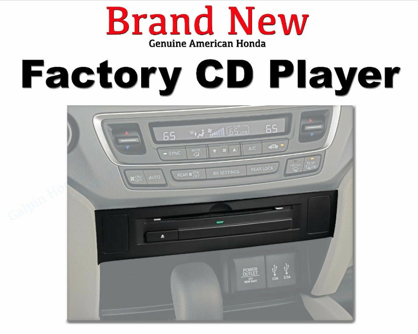 genuine oem honda ridgeline cd player with attachment 2017