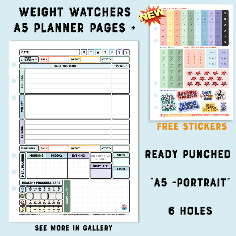 3mth Diet Food Diary Slimming World Compatible Weight