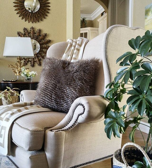 Pottery Barn Faux Fur Pillow Cover Gray 18 Quot Rabbit New Ebay