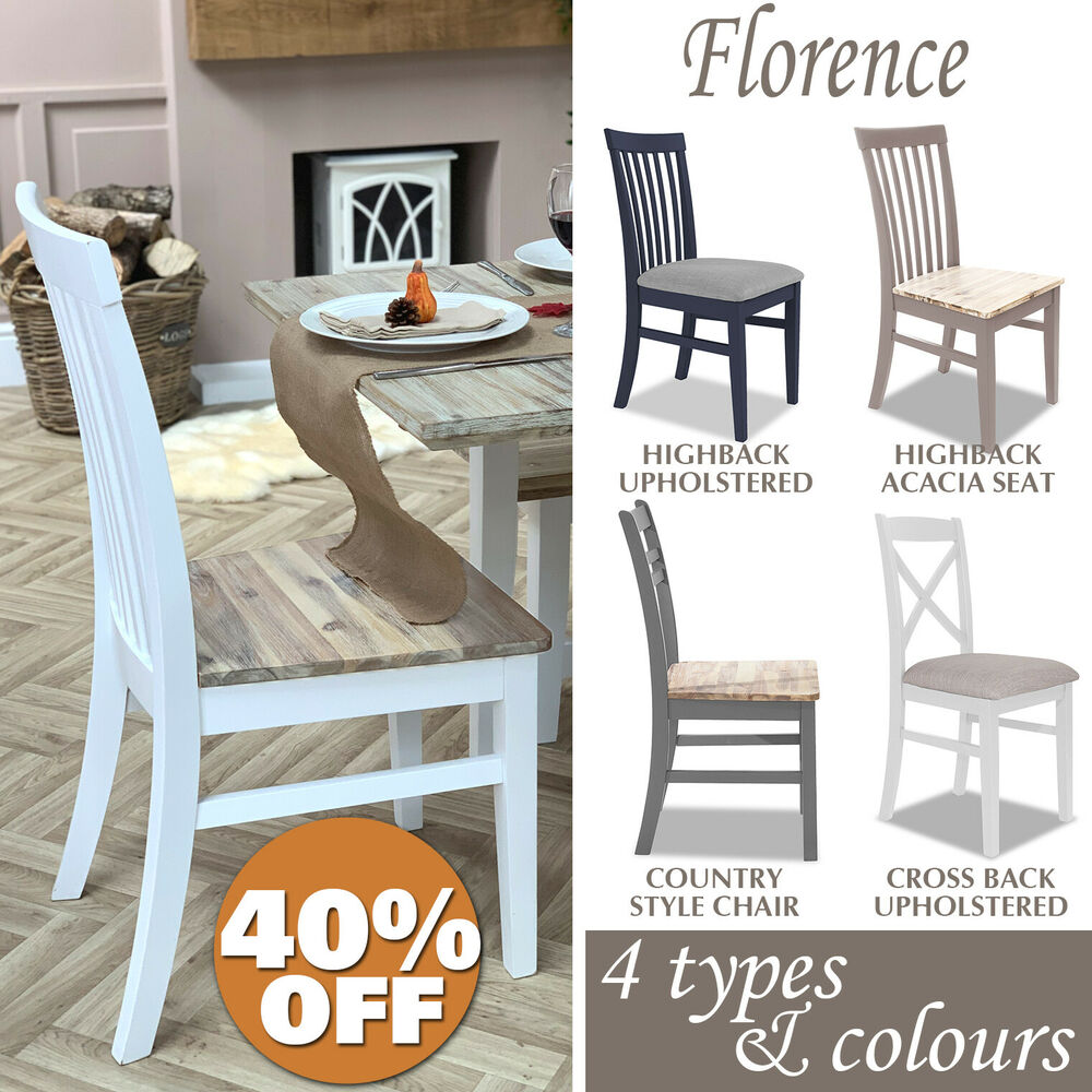 Florence chairs kitchen dining chair in 4 colours types for Types of wooden chairs