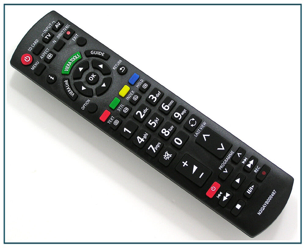 ersatz fernbedienung f r panasonic n2qayb000487 fernseher tv remote control neu ebay. Black Bedroom Furniture Sets. Home Design Ideas
