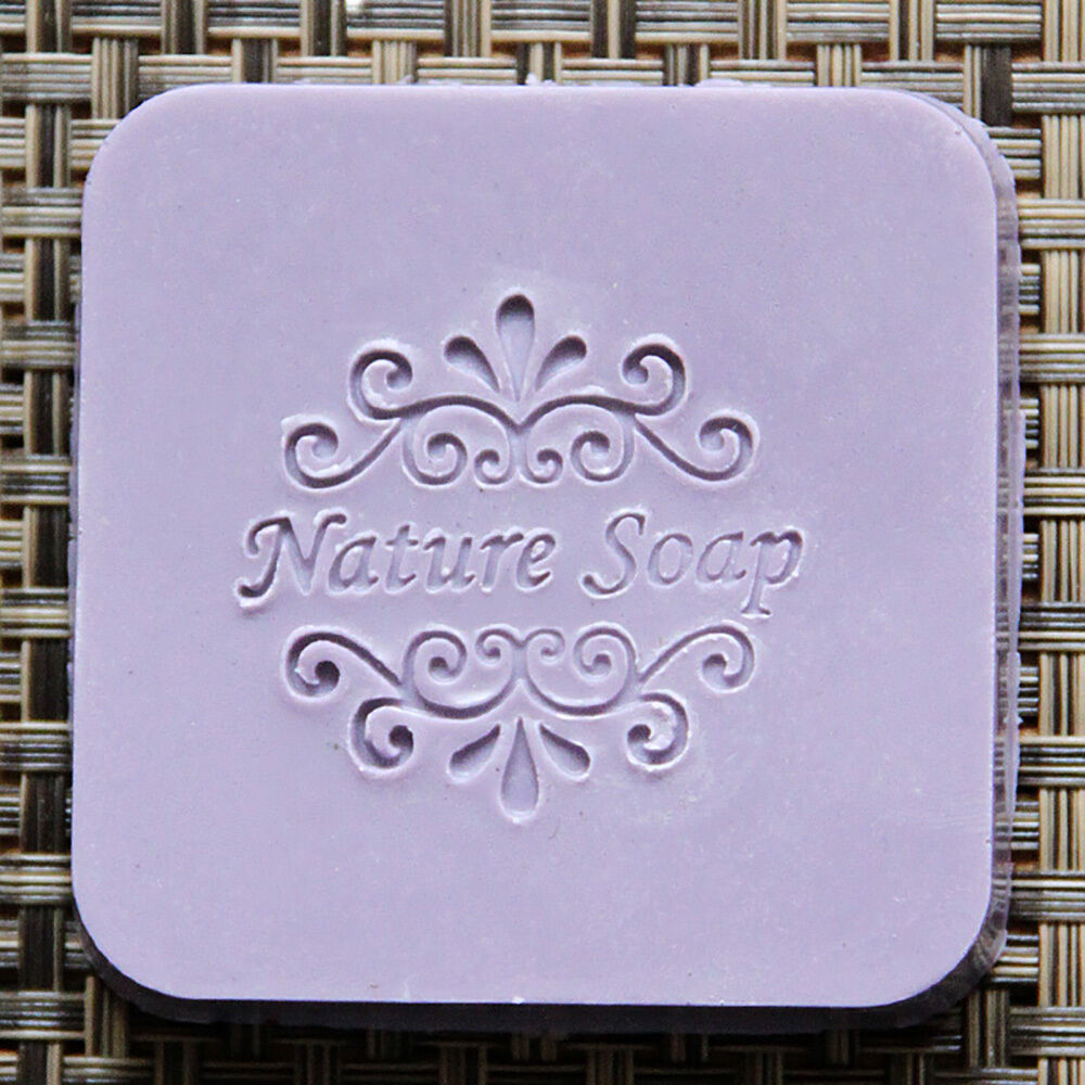 Details About Natural Handmade Patterns Soap Stamp Mold Acrylic Glass Custimized DIY