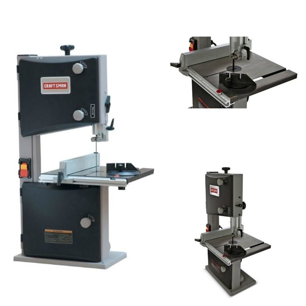 Table saws 10 in with stand craftsman woodworking garage wood band saw for sale ebay Band saw table