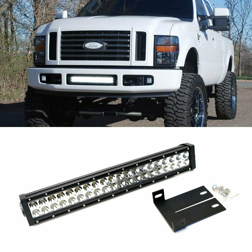 Inch Straight Offroad Led Light Bar  plete Setup For Ford in addition Ford Raptor besides M as well D Radius Led Light Bar Mounted Front Bumper Anyone Image additionally S L. on curved led bumper light bar f250