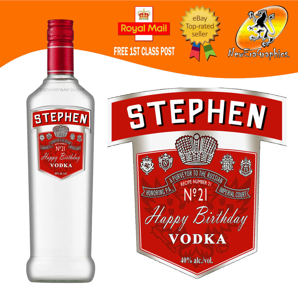 This is a graphic of Obsessed Personalised Vodka Bottle Labels