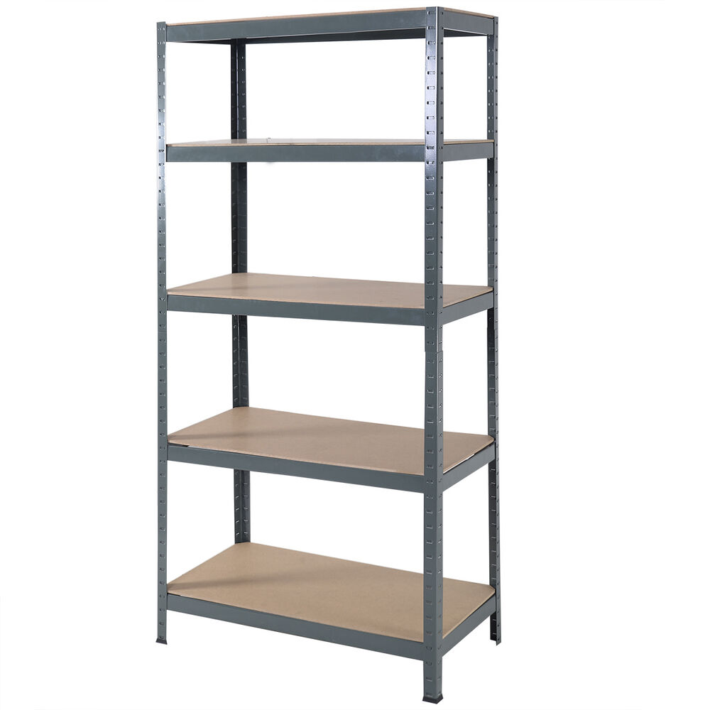 Heavy Duty Steel 72 5 Level Garage Shelf Metal Storage