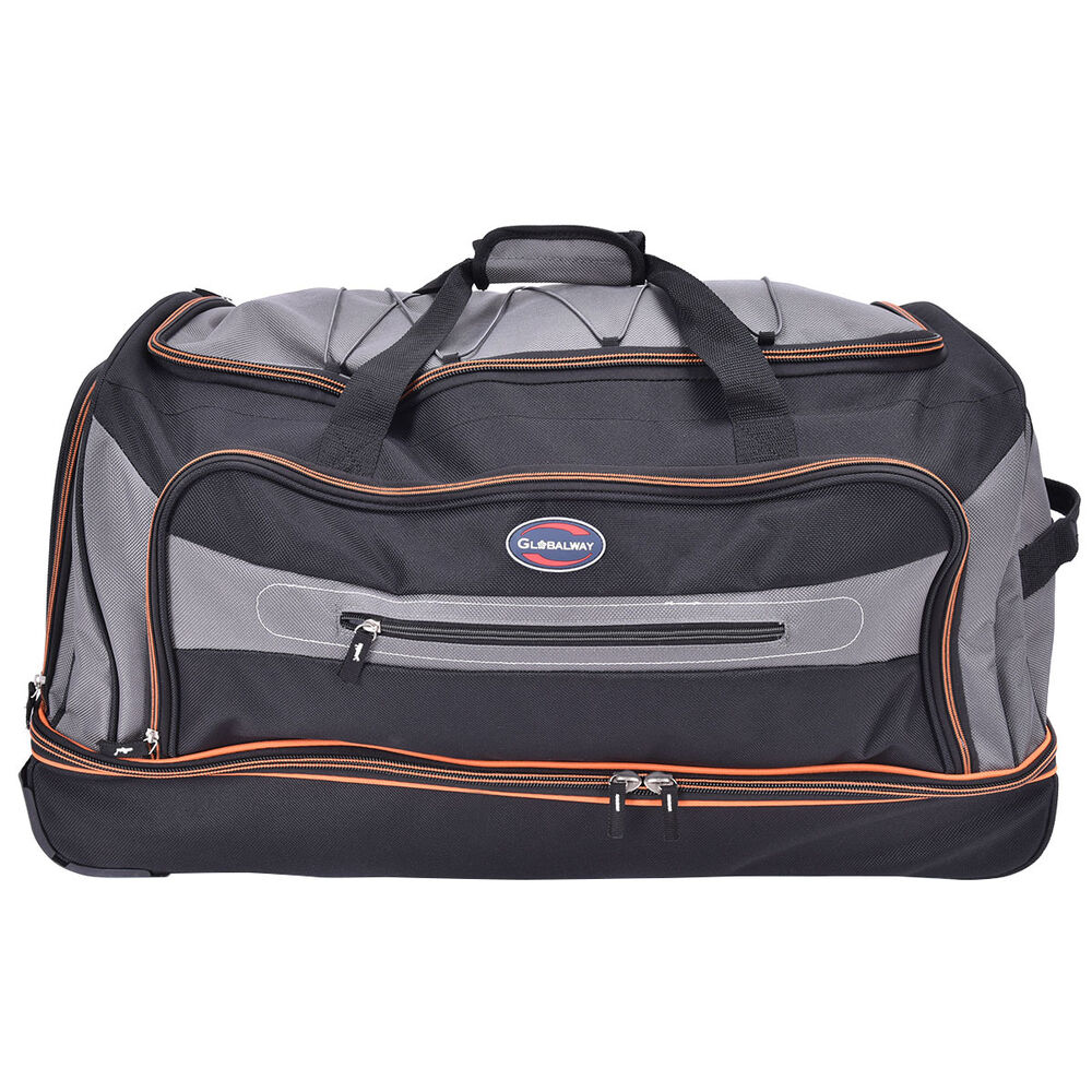 30 Quot Drop Bottom Rolling Wheeled Duffel Bag Carry On