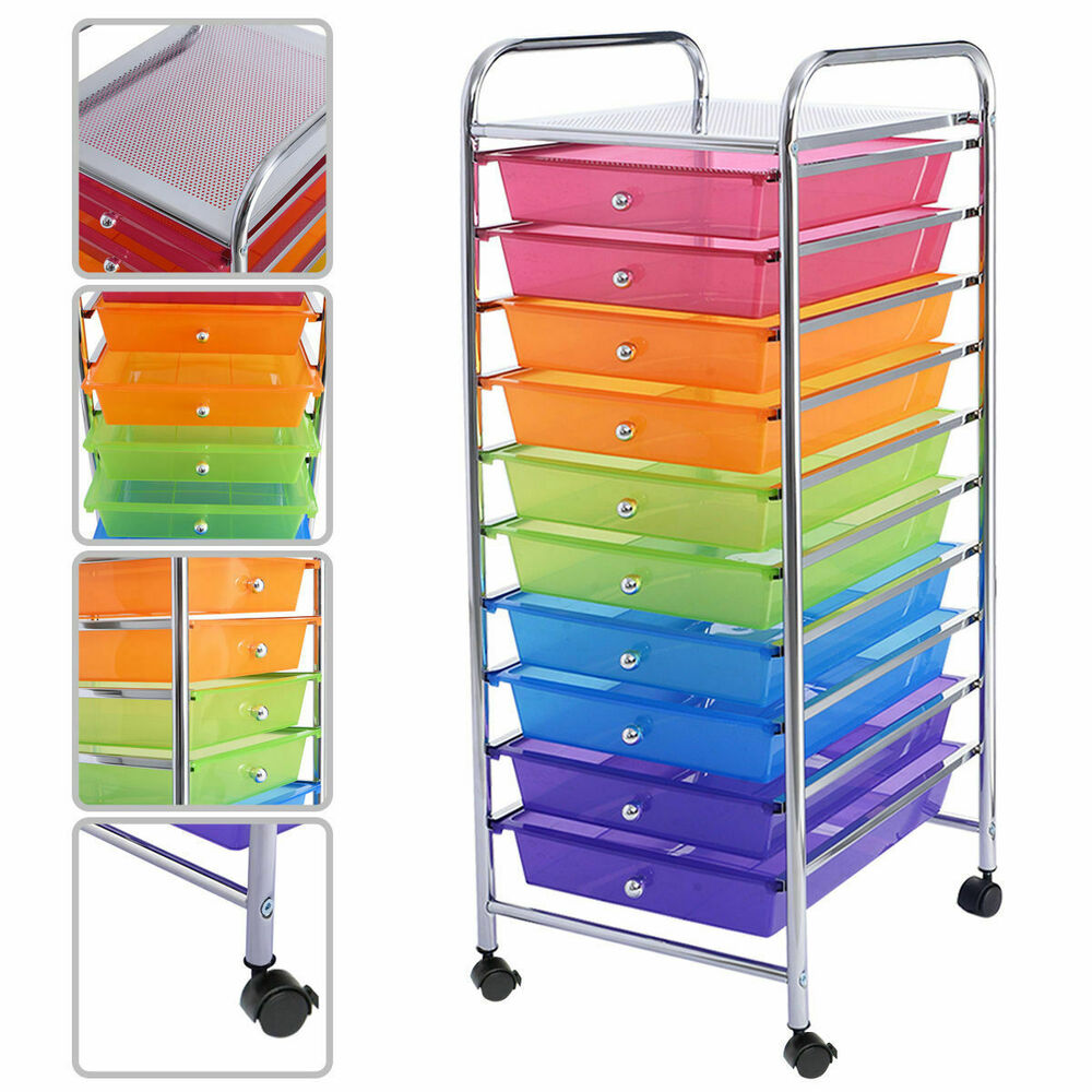 rolling storage drawers rainbow 10 drawer rolling storage cart scrapbook paper 25643