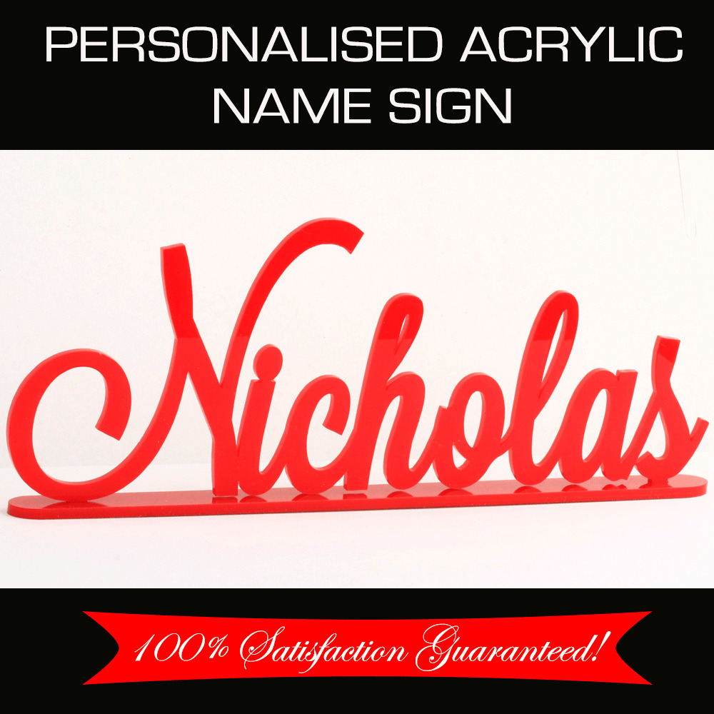 Custom Made Personalised Acrylic Name Sign Wedding Nursery