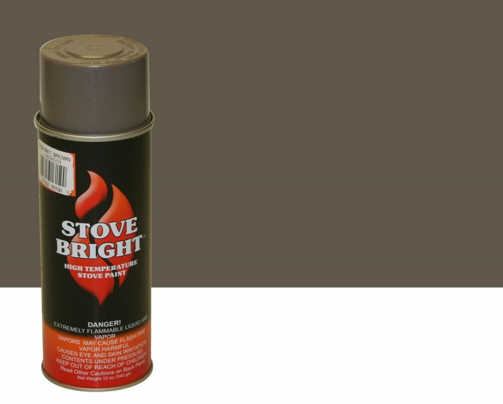 Stove Bright Fireplace Stove High Temperature Spray Paint Leather Brown 6146 Ebay