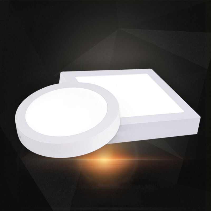 Surface mounted led panel light square round ceiling for 4 lamp for downlight