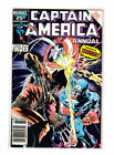 Captain America Annual 8 Newstand Variant 1986 Vs Wolverine Mike Zeck Classic VF