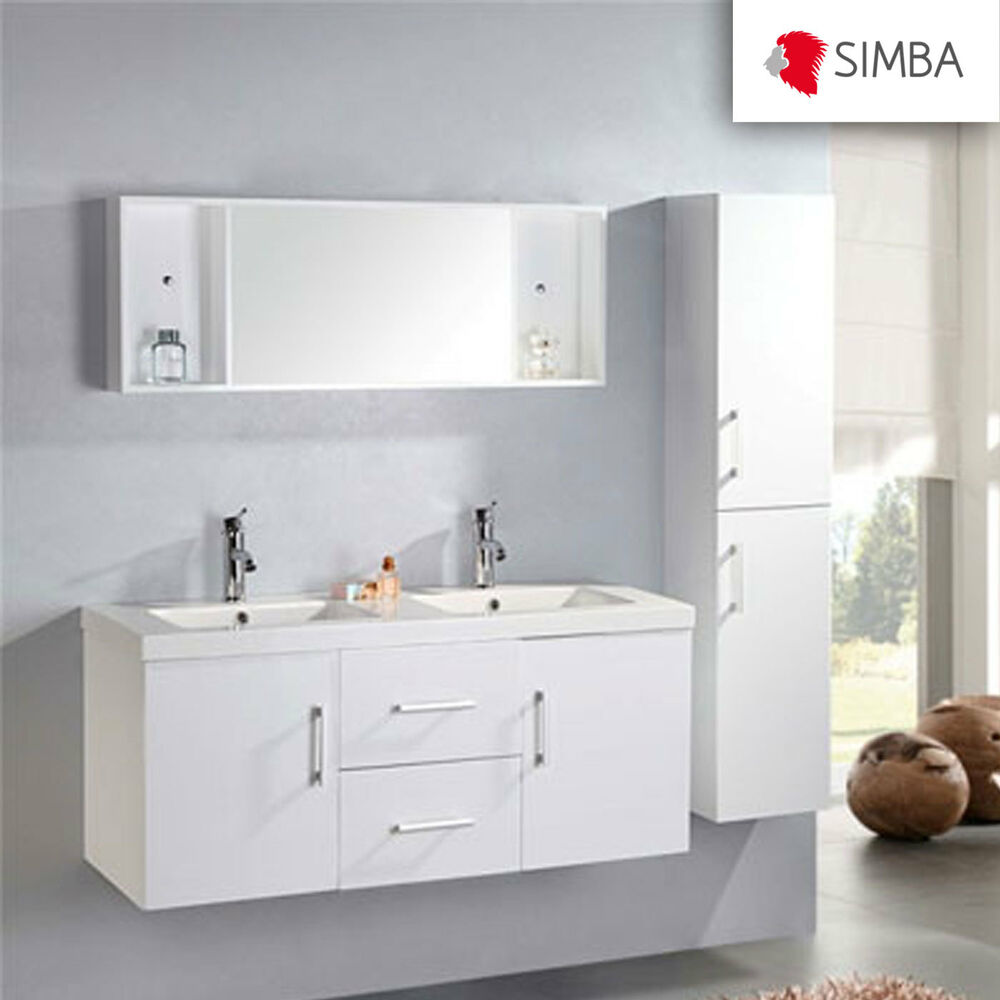 meuble salle de bain 120 cm blanc colonne vasque robinetterie w malibu ensemble ebay. Black Bedroom Furniture Sets. Home Design Ideas