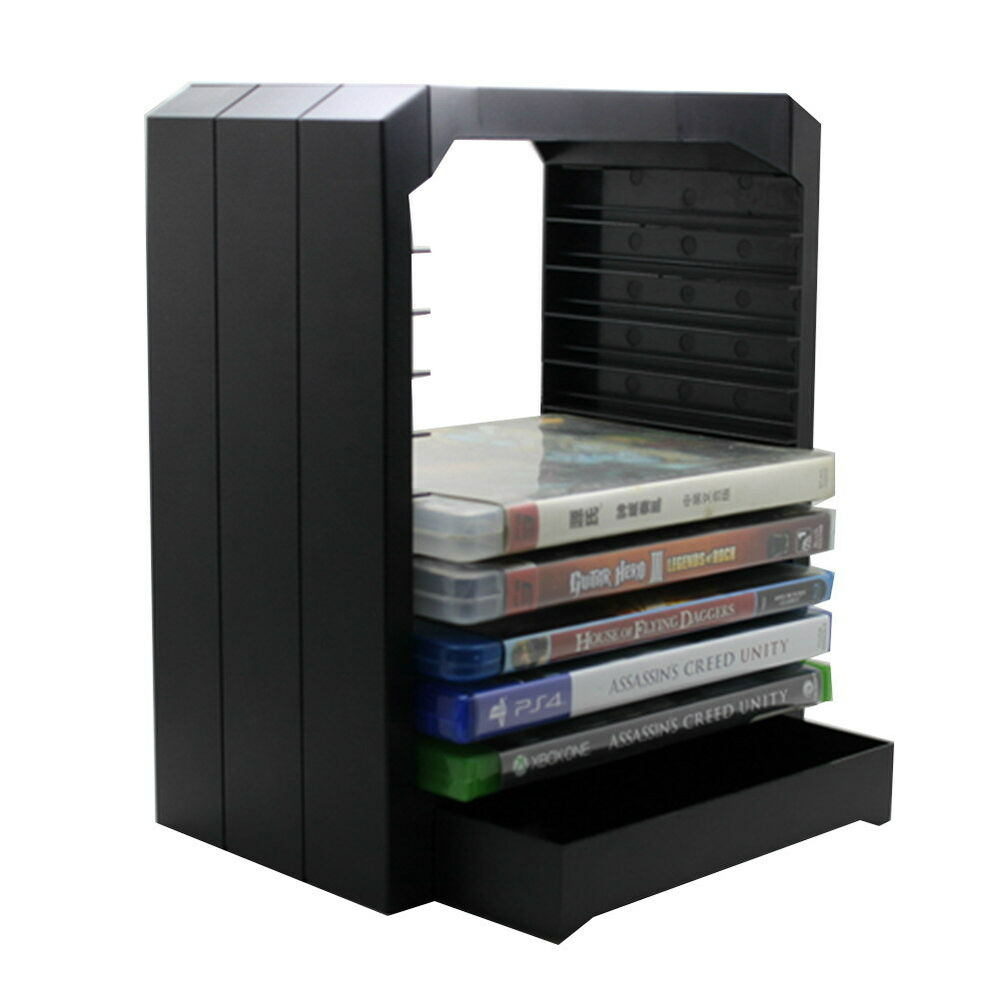 Multifunctional Games Blu Ray Discs Storage Stand Tower