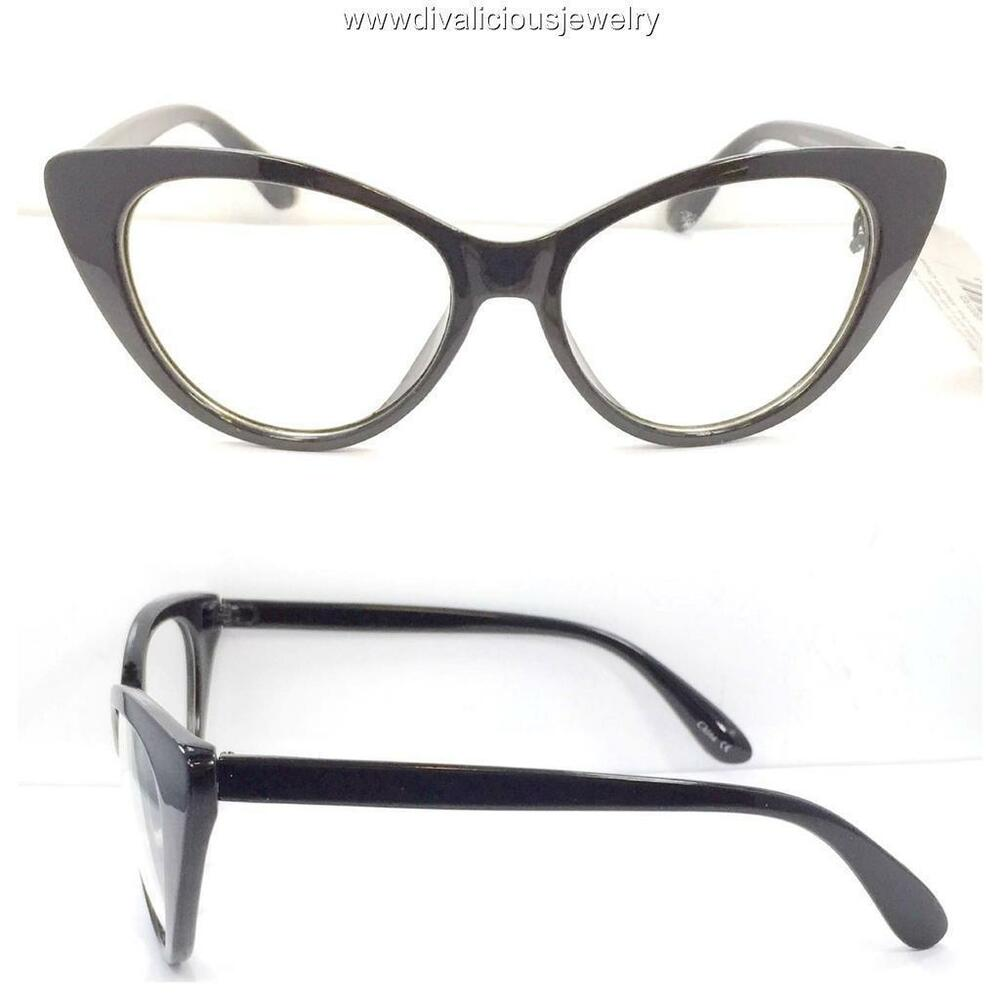 85b66c7de01 Details about Big Cat Eye Diva Readers Reading Glasses - 5 Colors