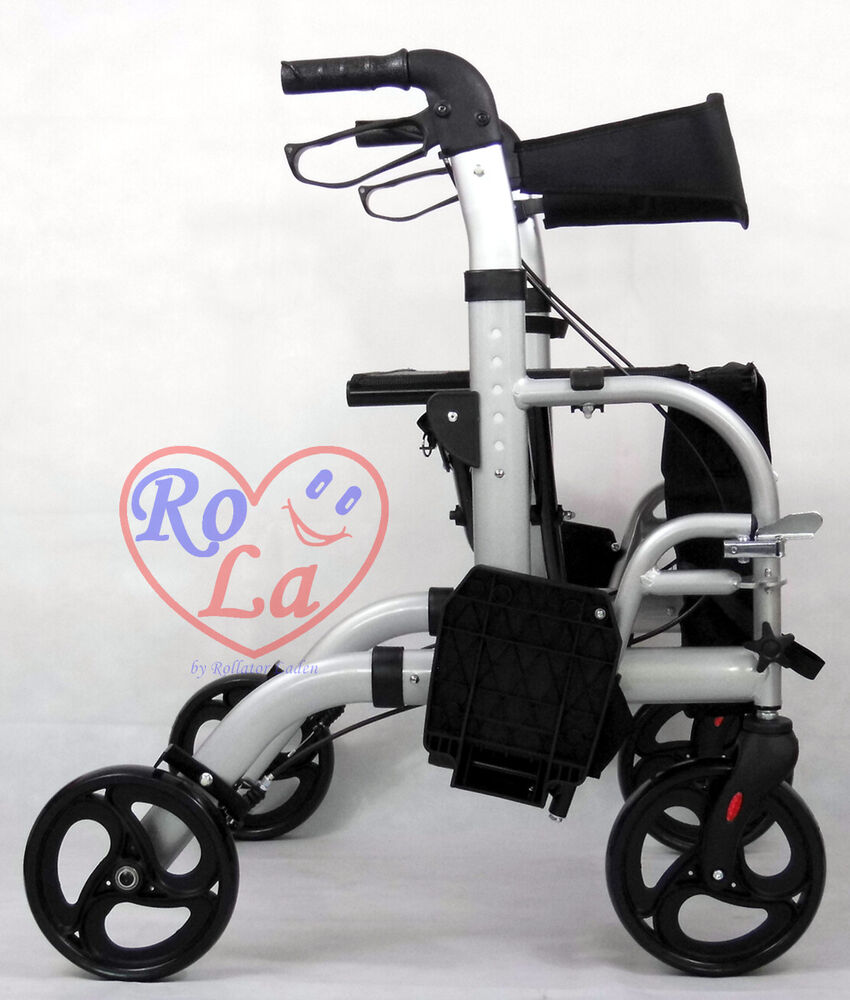 transportrollator neu rollator transportrollstuhl faltbar tasche alu fussst tzen ebay. Black Bedroom Furniture Sets. Home Design Ideas