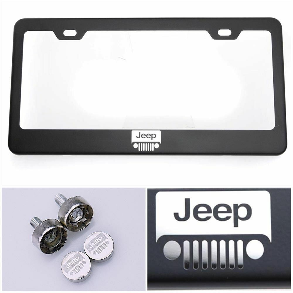 steel license plate frame laser engraved logo for jeep ebay. Cars Review. Best American Auto & Cars Review