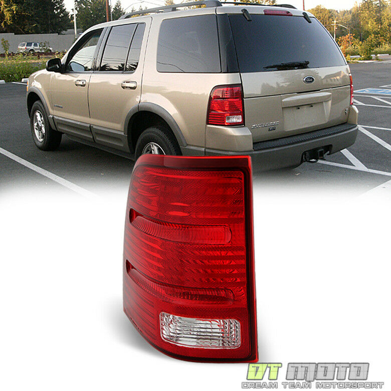 2002 2005 ford explorer 4dr replacement tail lights brake lamps driver. Black Bedroom Furniture Sets. Home Design Ideas