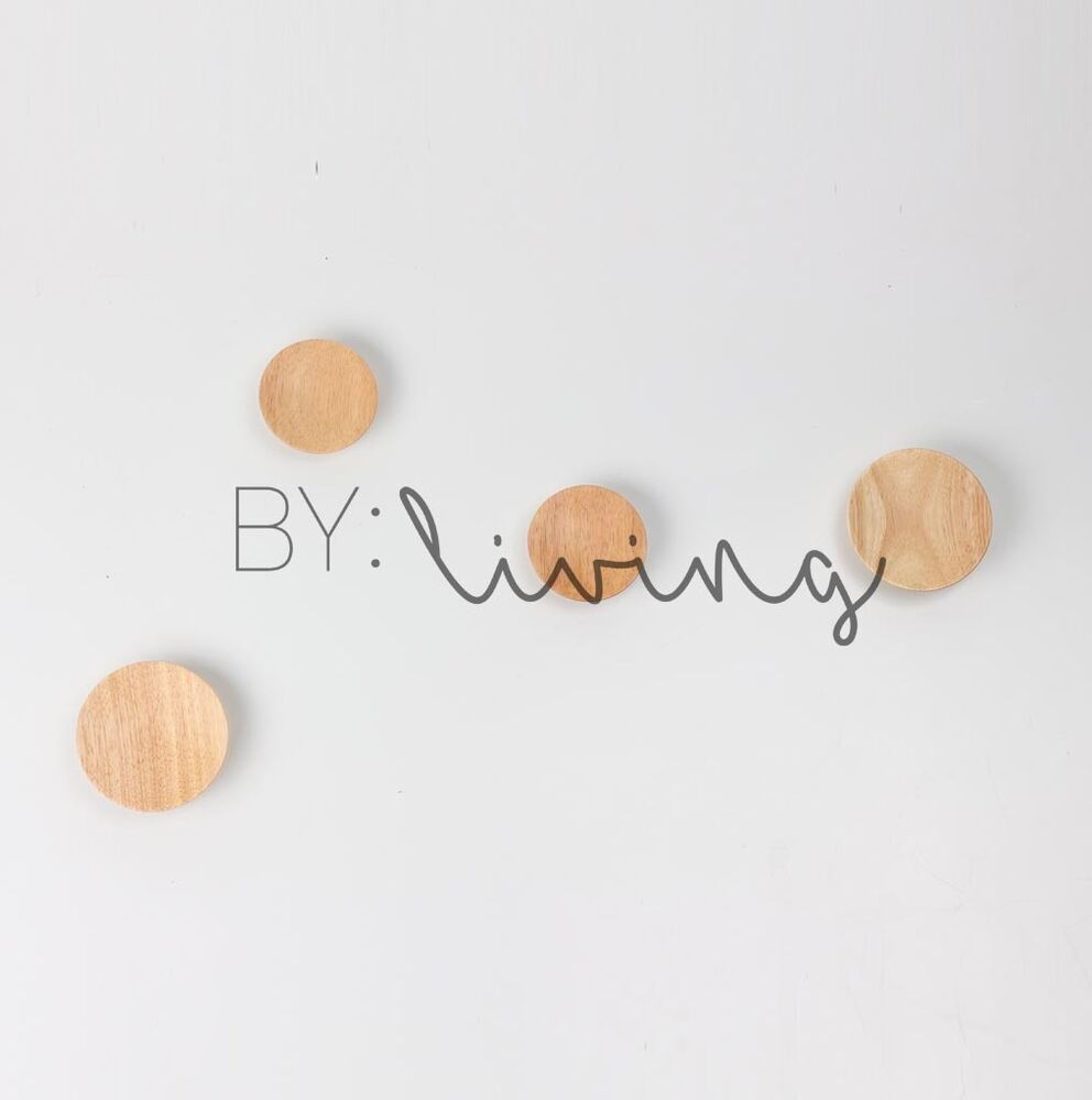 Round Ash Timber Wooden Dot Hook Wall Decoration Hat