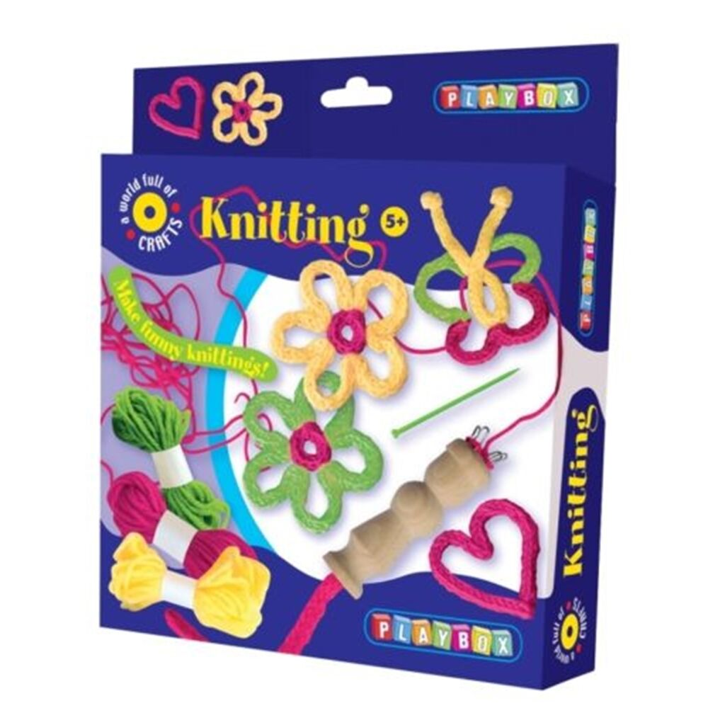 French knitting children 39 s craft set playbox art and for Arts and crafts sets for toddlers