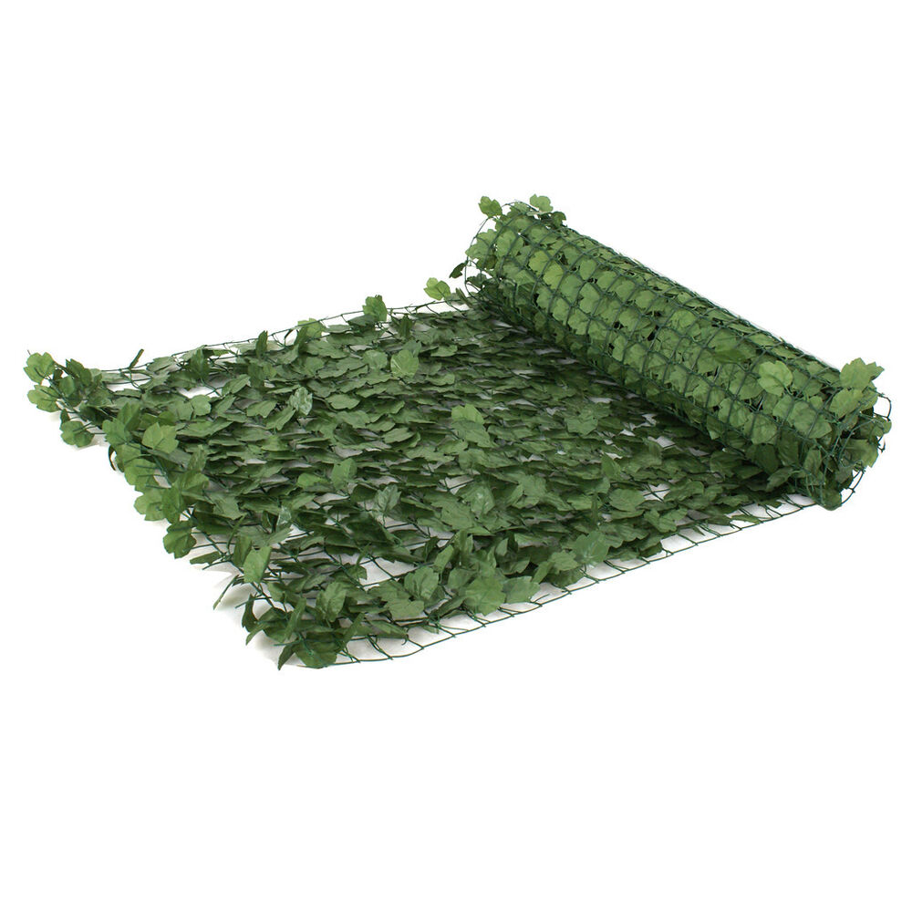 Faux Ivy Privacy Screen Artificial Hedge Fencing Or Wall