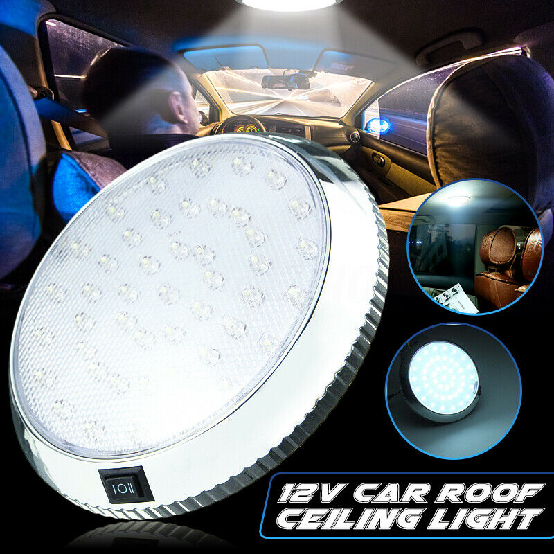 universal 46 led car vehicle interior indoor roof ceiling dome light white lamp ebay. Black Bedroom Furniture Sets. Home Design Ideas