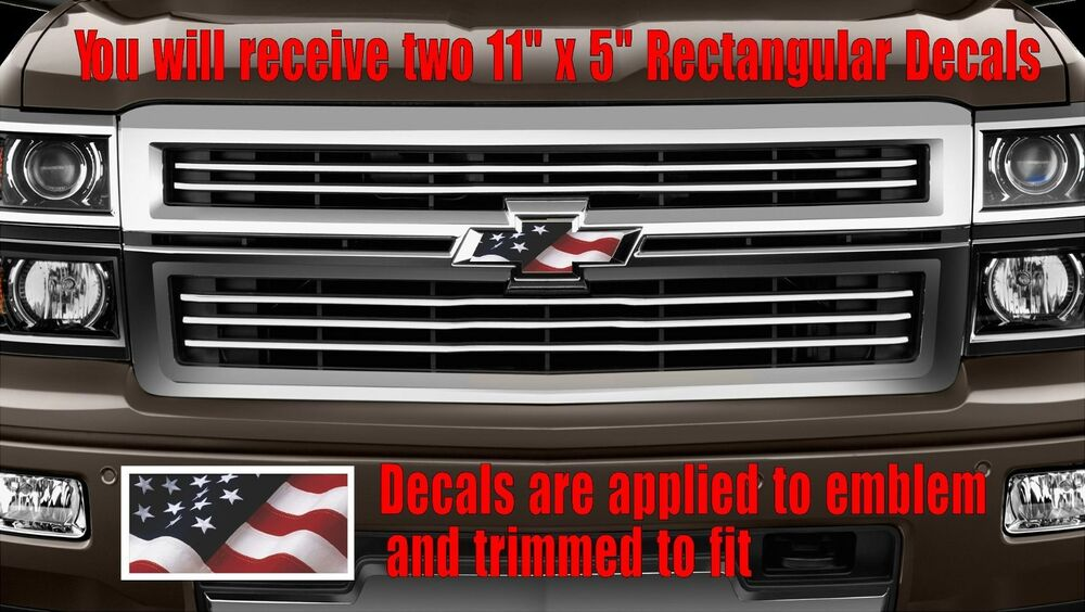 chevy chevrolet bowtie american usa flag emblem overlay. Black Bedroom Furniture Sets. Home Design Ideas