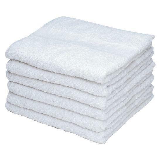 6 pack white hand towel 16x27 hotel spa and home washable